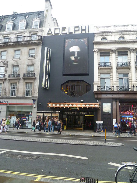 The haunted Adelphi Theatre is home to the ghost of a murdered actor.