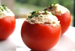 Yogurt Stuffed Tomatoes