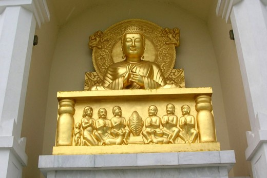The Buddha's statue in Lumbini, Nepal