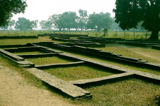 Ruins of Suddhodhana Palace. Siddhartha had lived here for 29 years before becoming the Buddha