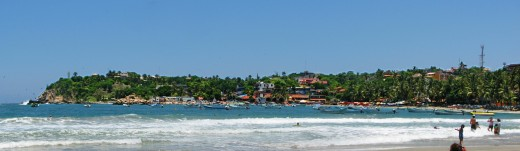 Playa Principal in Puerto Escondido, Oaxaca, Mexico