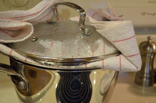Cook quinoa in a sieve with a clean dish towel under the pan lid to steam grain.