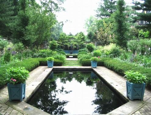 Reflecting pool at Stan Hywet.
