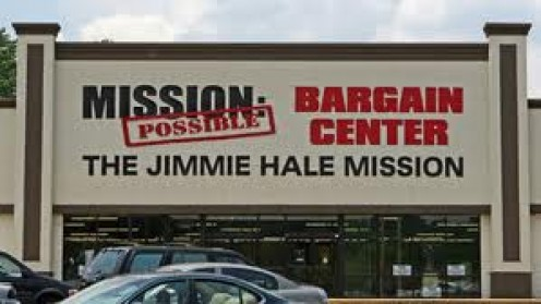 Mission Possible: Bargain Center is a Thrift Store supported by The Jimmy Hale Mission. It has household items and clothing at very cheap prices so that people in need can purchase but,  for a cheaper price.