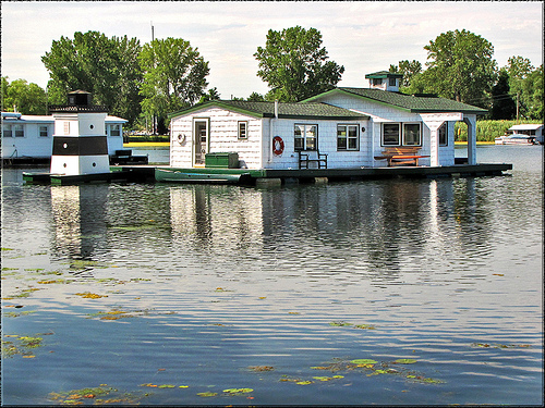 Houseboat at Erie PA