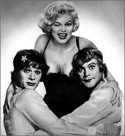 Tony Curtis, Marilyn Monroe and Jack Lemmon