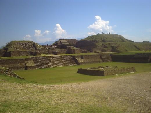 Sunken Patio looking towards North Platform Pyramids.