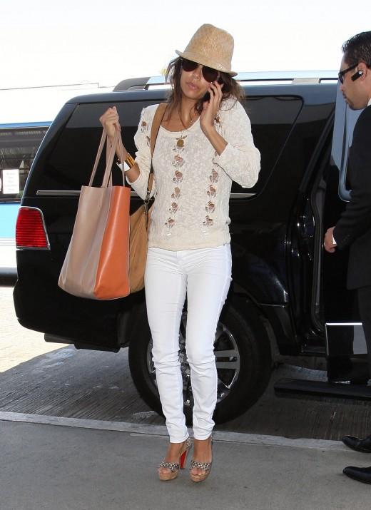 Eva Longoria - Yes she loves her skinny white jeans.