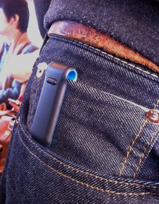 This style of Pedometer looks like a clip.  Fitting over a jeans pocket, it is hardly noticeable but is capable of providing important health information and feedback.