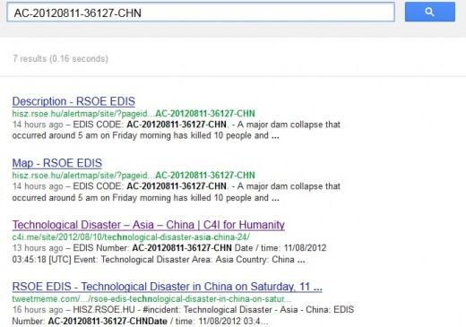 By entering the EDIS number into google, you may be able to find more information on a given disaster.