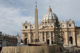 Another angle of the Christmas tree at the Vatican