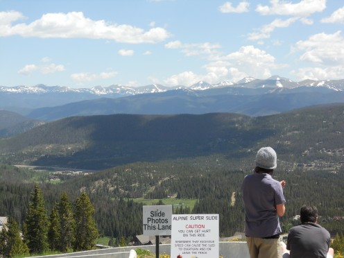 Summer in Breckenridge, Colorado.  View from the top of the Alpine Slide