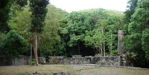 Cinnamon Bay Plantation, one of the first plantations taken by rebels.