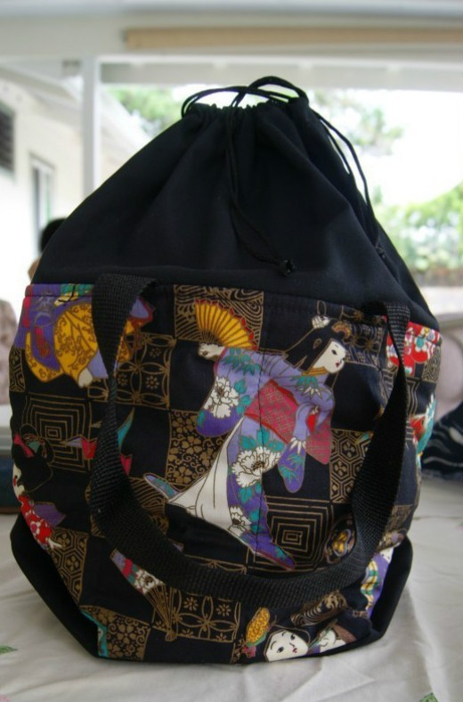 Japanese Geisha Shopping Bag