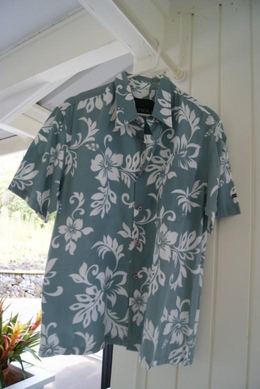 O'Neil Hawaiian Print Aloha Shirt