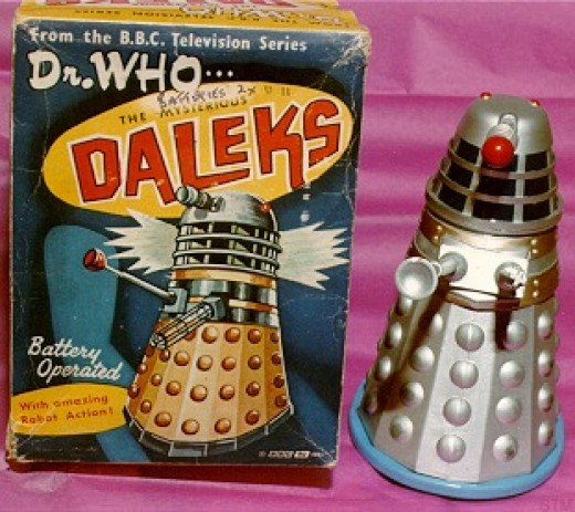 Ahh the Marx version Dalek, I found one of these at a carboot sale, without a box of course.