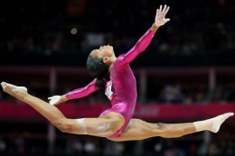 Gabrielle Douglas, first African American woman to win the Olympic Gold Medal in Individual Gymnastics.