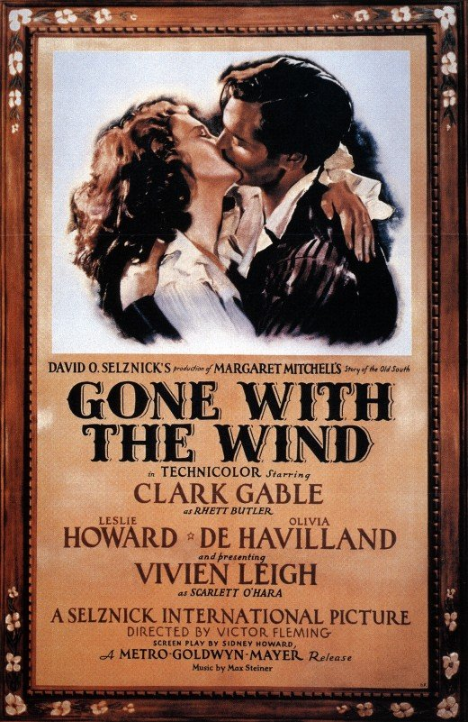 Gone With The Wind - A Hollywood Classic, and Pulitzer Prize winner of 1936
