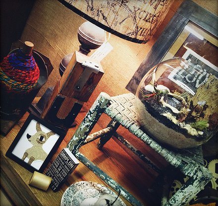 Decide which direction you want your rustic interior to take and have fun accessorizing!