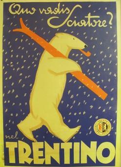 Vintage ski posters make great wall art for a ski cabin theme.