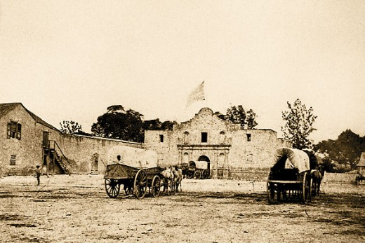 An early photo: I wanted a picture for this Poem that shows the Alamo...more as a fortress...not a museum with a manicured lawn. Though, the Alamo is unquestionably a landmark in the Heart of San Antonio, it was primarily a mission turned into a fort