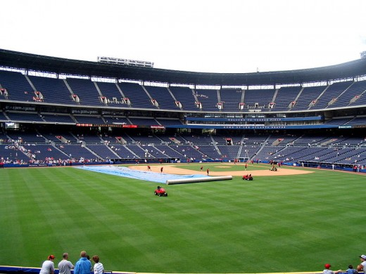 Turner Field, home of the Atlanta Braves, getting ready for a game