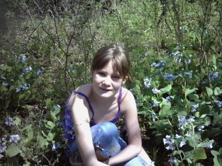 My daughter Erica among the blue bells in Missouri.