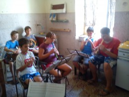 The group expanded from just recorders to include percussion, mandolina, keyboards, flute and guitar.