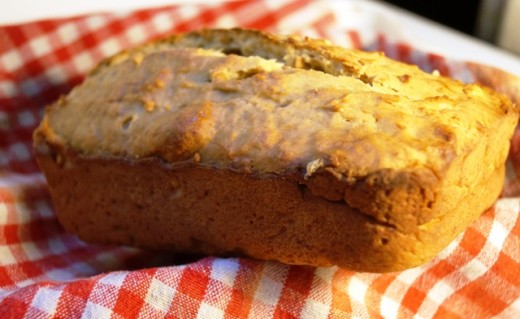 Yummy peanut butter banana bread.