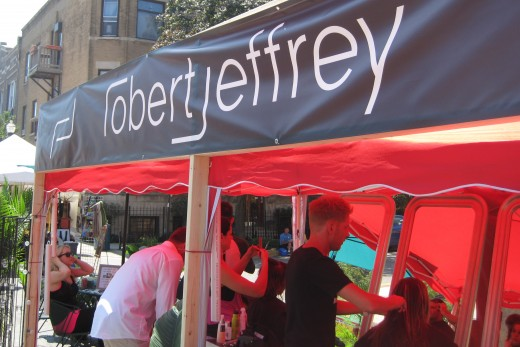 Robert Jeffrey's booth offering hair cuts!