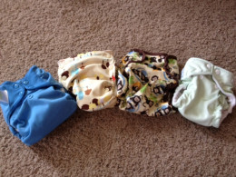 A few of our diapers.