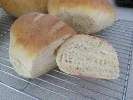 cut sourdough loaf