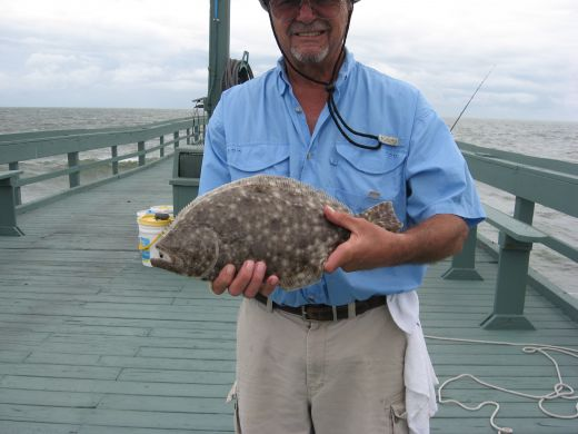 Flounder, a saltwater fish, is usually safe to eat.
