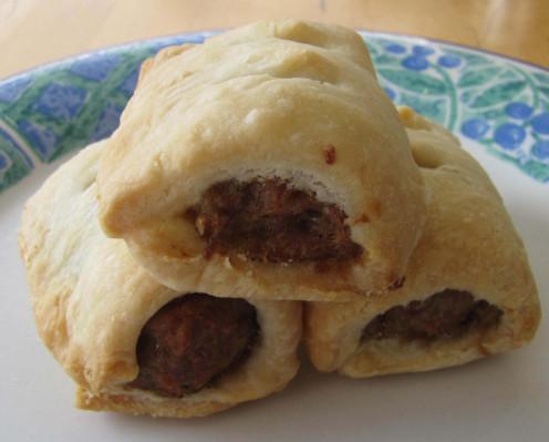 Yummy Rough Puff Sausage Rolls