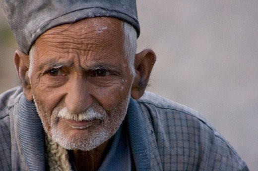 Old man from Pune, India.