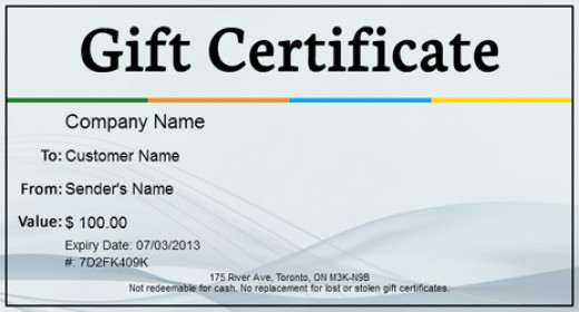 Top 5 Free Gift Certificate Template Websites