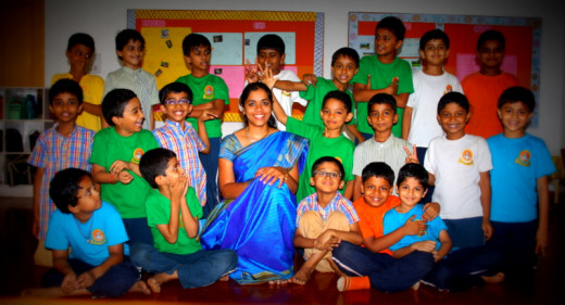 The naughty boys of my class. Their actions when I was busy posing, shows their intimacy with me