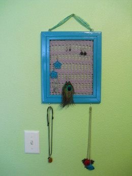 Jewelry Holder from a Picture Frame