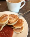Silver Dollar Pancakes: A Childhood Favorite; Perfect For Sunday Brunch.