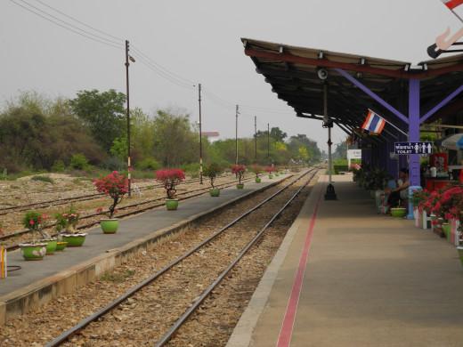 Kanchanaburi Train Station. Direct to Bangkok