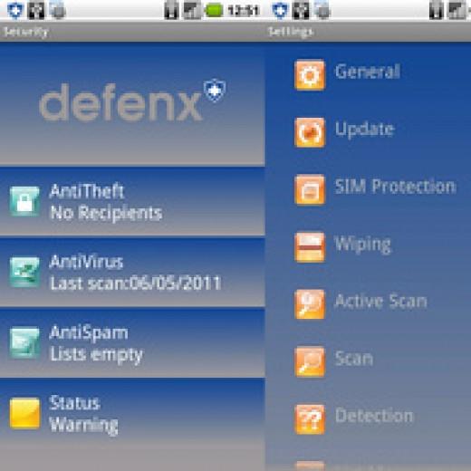 Defenx interface