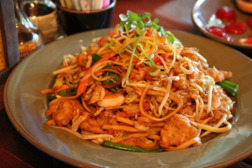 Lo mein at Yak and Yeti. My wide declared it the best lo mein she's ever had!