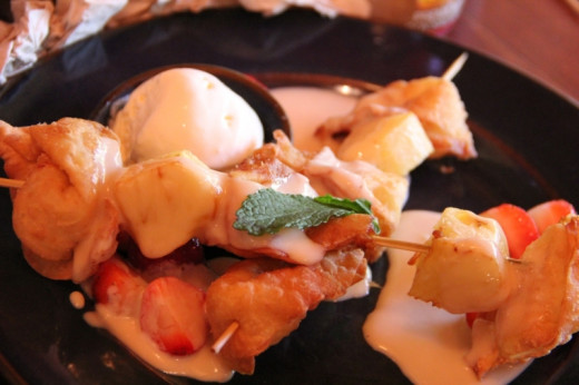 Yak and Yeti fried wontons! Possibly my favorite dessert in all of Walt Disney World.