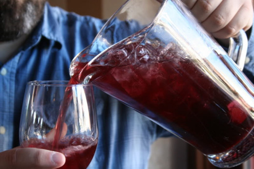 A pitcher of sangria. Don't overdo it!