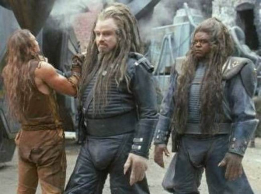 Barry Pepper, John Travolta and Forest Whitaker in Battlefield Earth (2000)