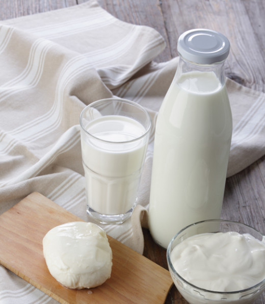 Include milk products in your daily menu