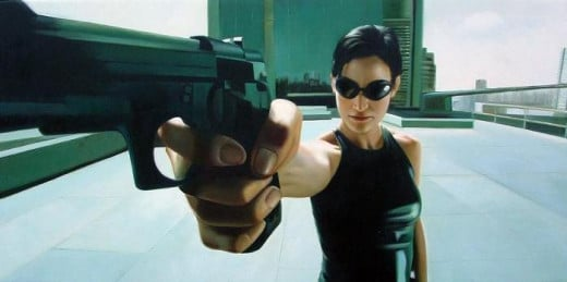 Carrie-Ann Moss in The Matrix (1999)