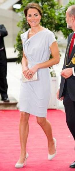 Gray dress by designer Roksanda Ilincic