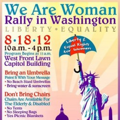 We Are Woman: Rally in Washington, D.C. August 18, 2012