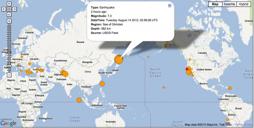 This is the screen capture of the 7.7 earthquake of the east coast of Russia.